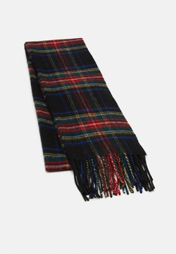 Johnstons of Elgin - 100% Cashmere Tartan Scarf - Szal - black stewart