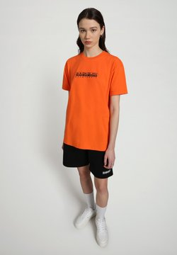 Napapijri - S-BOX   - T-shirt z nadrukiem - orangeade