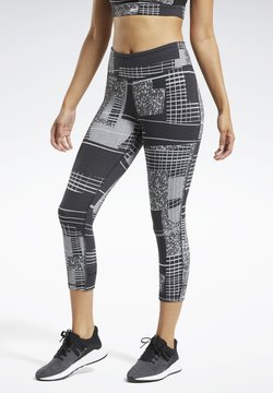 Reebok - LUX 3/4 DECONSTRUCTED 2 LEGGINGS - Tights - black
