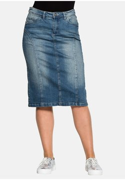 Sheego - Jeansrock - blue denim