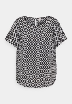 ONLY Carmakoma - CARVICA  - Bluse - black/white