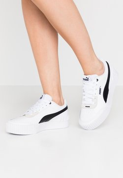 Puma - CARINA LIFT - Matalavartiset tennarit - white/black