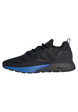 adidas Originals - ZX 2K BOOST UNISEX - Sneakersy niskie - core black/glow blue