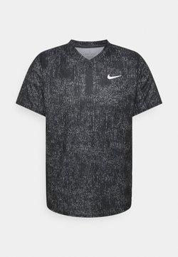Nike Performance - DRY VICTORY - T-shirt con stampa - black/black/white