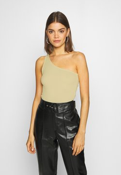 Gina Tricot - JOLINE ONE SHOULDER - Top - lime cream