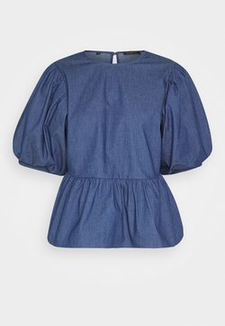 Selected Femme Petite - MARINA - Blusa - medium blue denim
