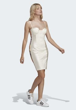 adidas Originals - Vestido de tubo - chalk white