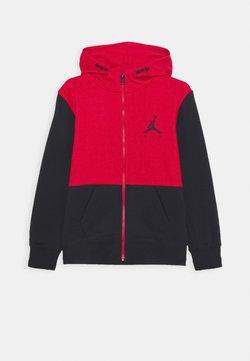 Jordan - JUMPMAN AIR UNISEX - Bluza rozpinana - black/gymred