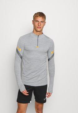 Nike Performance - DRY STRIKE DRILL - Sports shirt - smoke grey/total orange