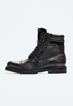 Pepe Jeans - WOODLAND - Bottines à lacets - factory black