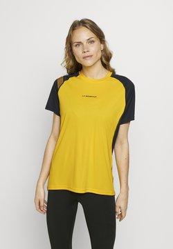 La Sportiva - MOTION - T-Shirt print - yellow/black