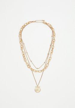 Pieces - PCKETHIA COMBI NECKLACE - Necklace - gold-coloured