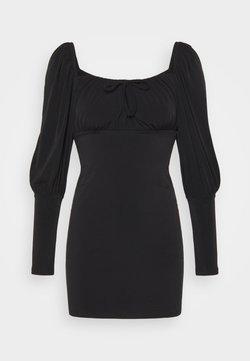 Miss Selfridge - PUFF SLEEVE MINI - Vestido ligero - black