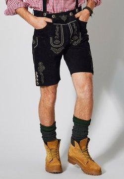Men Plus by HAPPYsize - mit Hosenträgern - Lederhose - schwarz