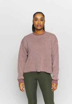 Nike Performance - YOGA COVER UP - Jersey de punto - smokey mauve/fossil stone