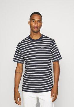 Edwin - QUARTER UNISEX - T-Shirt print - dark blue/grey