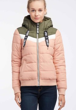 HOMEBASE - Winterjacke - olive/salmon/pink