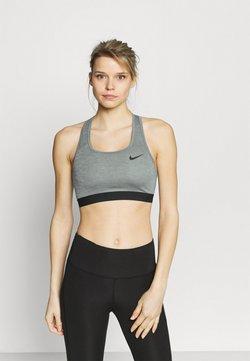 Nike Performance - BAND BRA NON PAD - Sport-bh met medium support - smoke grey/pure/black