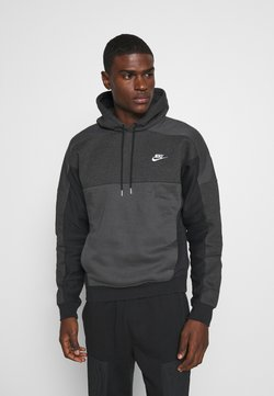 Nike Sportswear - HOODIE - Kapuzenpullover - black heather/smoke grey/white