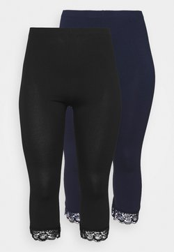 Anna Field Curvy - 2 PACK  - Legging - black/dark blue