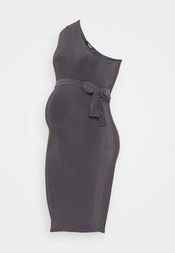 Missguided Maternity - SLINKY RUCHED DRESS - Etuikjole - grey