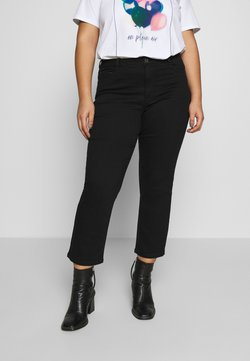 Kaffe Curve - CROPPED - Slim fit jeans - black deep