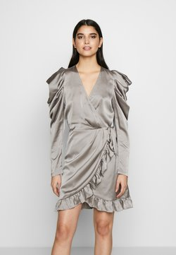 DESIGNERS REMIX - LAUREN WRAP DRESS - Vestito elegante - grey