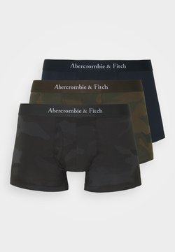 Abercrombie & Fitch - TRUNK 3 PACK - Panties - black /black/olive