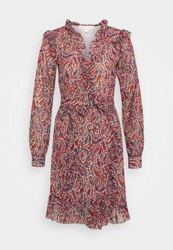 MICHAEL Michael Kors - WRAP  - Day dress - dark ruby