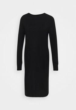 Marc O'Polo - HEAVY KNIT DRESS LONGSLEEVE ROUND NECK - Jumper dress - black