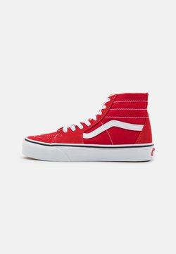 Vans - SK8 TAPERED - Korkeavartiset tennarit - racing red/true white