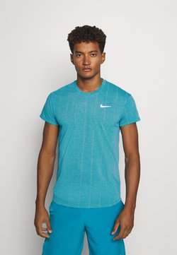 Nike Performance - T-shirt con stampa - neon turquoise/white
