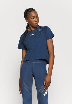 Puma - PAMELA REIF X PUMA BOXY TEE - T-Shirt print - blue