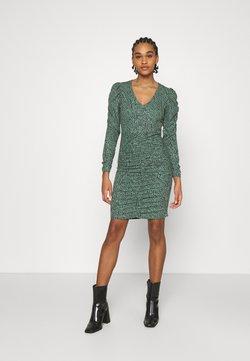 ONLY - ONLJESSY ROUCHING DRESS - Vestido ligero - balsam green/black