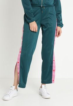 Urban Classics - LADIES BUTTON UP TRACK PANTS - Jogginghose - jasper/coolpink/firered