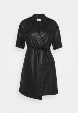 DESIGNERS REMIX - MARIE WRAP DRESS - Robe chemise - black