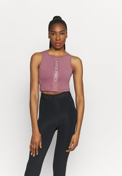 Nike Performance - TANK FEMME  - Funktionsshirt - light mulberry/white