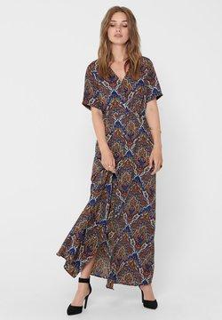 ONLY - ONLHANNA S/S ANCLE DRESS WVN - Vestido largo - burnt henna
