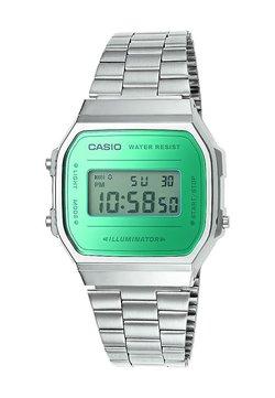Casio - Montre à affichage digital - silver-coloured/green