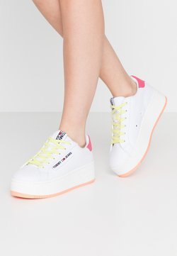 Tommy Jeans - NEW ROXY 2D - Sneakers basse - white/blush red/melon orange