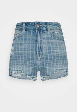American Eagle - CURVY - Jeans Shorts - retro indigo