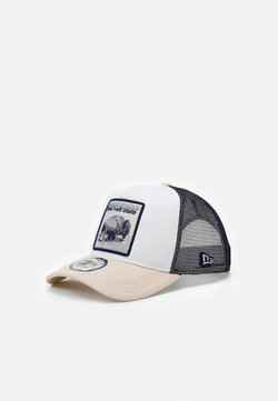 New Era - TRUCKER  - Lippalakki - white/dark blue/beige