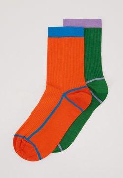 Hysteria by Happy Socks - CREW SOCK 2 PACK - Socken - green/orange