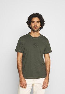 Calvin Klein Jeans - ACID WASH TEE - Camiseta básica - deep depths