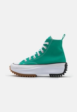 Converse - RUN STAR HIKE PLATFORM UNISEX - High-top trainers - court green/white