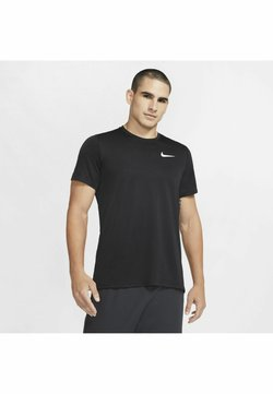 Nike Performance - DRY SUPERSET - T-shirt basic - black/(white)