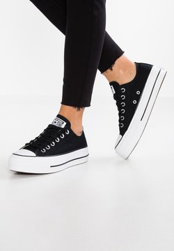 Converse - CHUCK TAYLOR ALL STAR LIFT - Matalavartiset tennarit - black/garnet/white