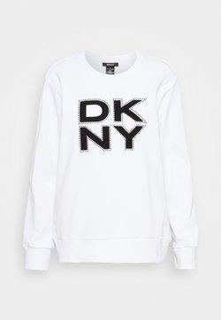 DKNY - STACKED LOGO  - Collegepaita - ivory