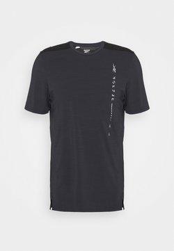 Reebok - GRAPHIC MOVE TEE - T-shirt imprimé - black