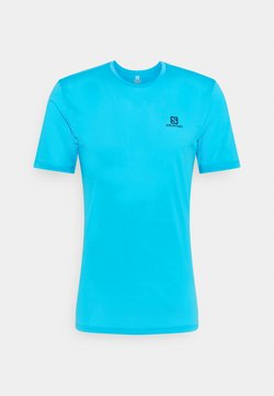 Salomon - AGILE TRAINING TEE - T-shirt basic - hawaiian ocean